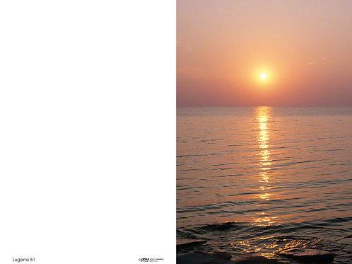 Sonnenuntergang am Meer-Lugano51 - ab 10 Stück inkl. Druck