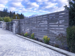 Wood fence, West vancouver