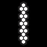 Hive_Comb_Shape_2_Black_White_4th_Annive