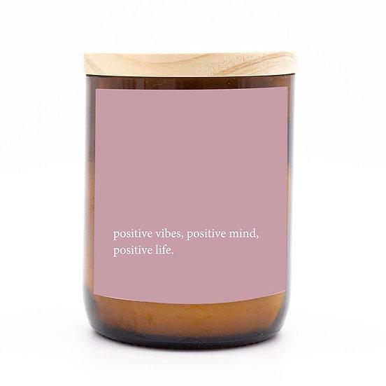 Heartfelt candle - positive vibes positive mind