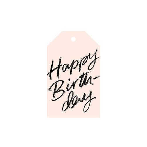 HAPPY BIRTHDAY BLUSH GIFT TAG