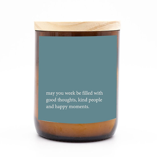 Heartfelt candle - good thoughts kind people
