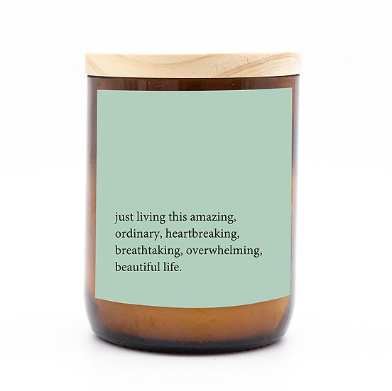 Heartfelt candle - living this amazing ordinary life