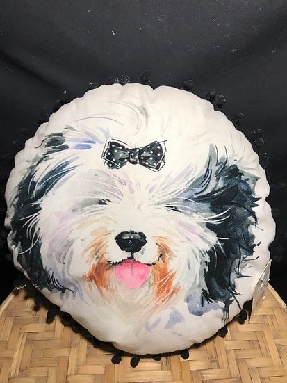 ROUND CUSHION DOG