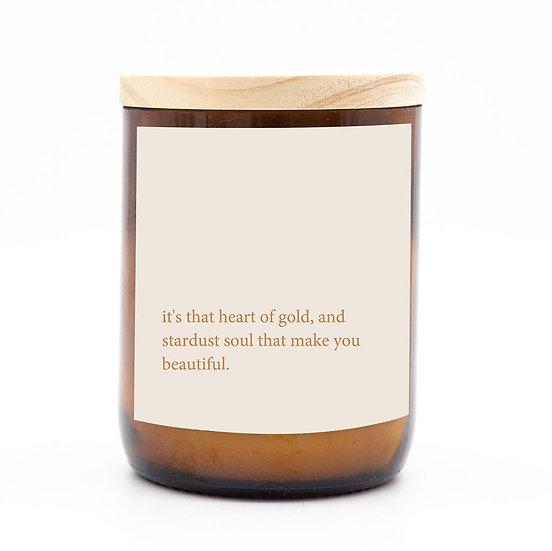 Heartfelt candle - heart of gold