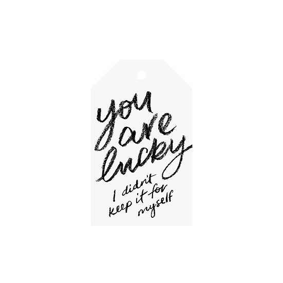 YOU ARE LUCKY GIFT TAG