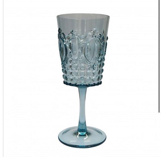 Acrylic Gemstone Wine Glass Aqua