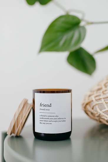 DICTIONARY SOY CANDLE - FRIEND