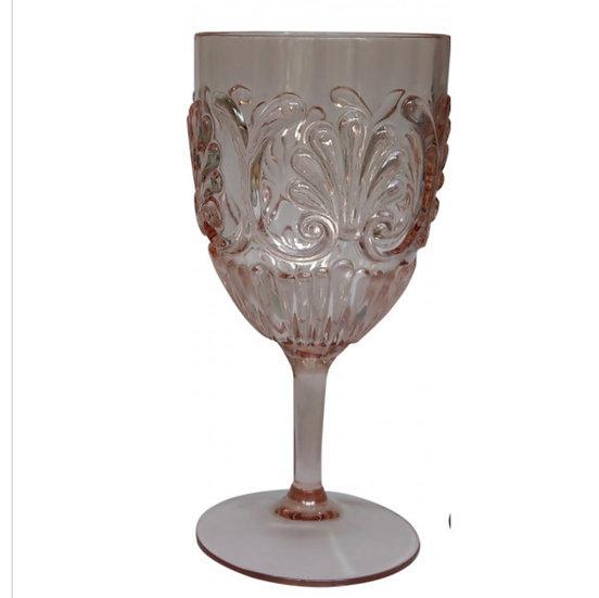 Acrylic Flemington Wine Glass Blush