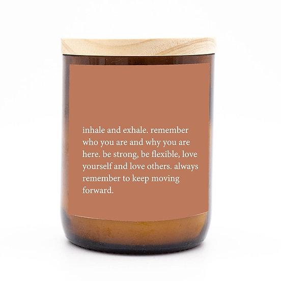 Heartfelt candle - inhale exhale