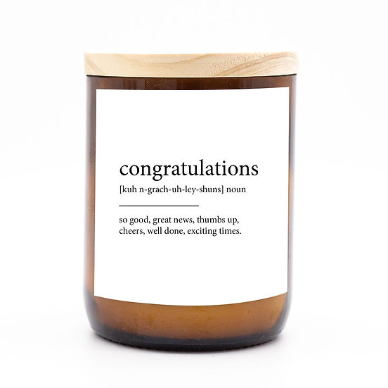Dictionary quote candle congratulations