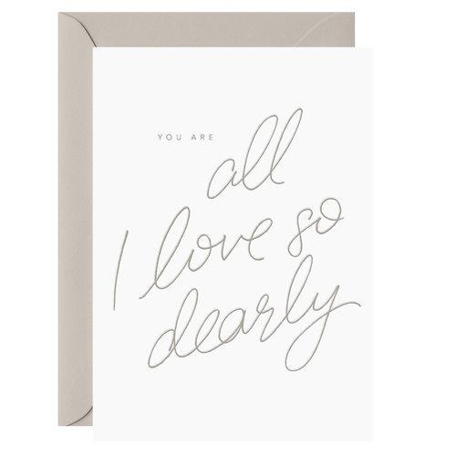 ALL I LOVE CARD