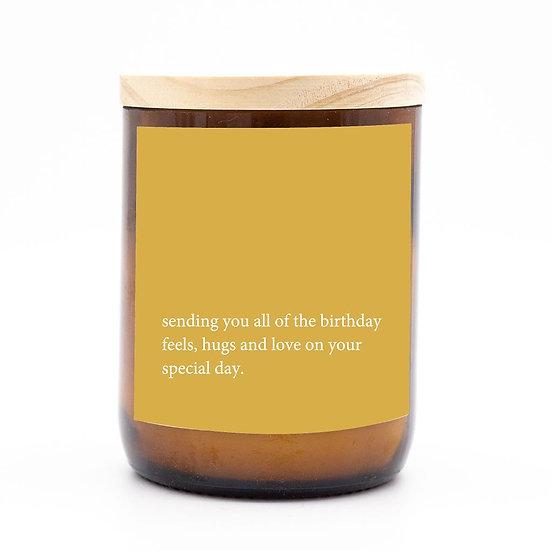 Heartfelt candle - sending you all the birthday love