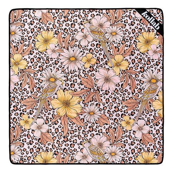 Picnic Mat 2x2 Leopard  Floral