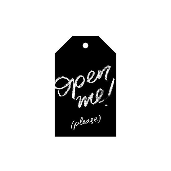 OPEN ME ! GIFT TAG