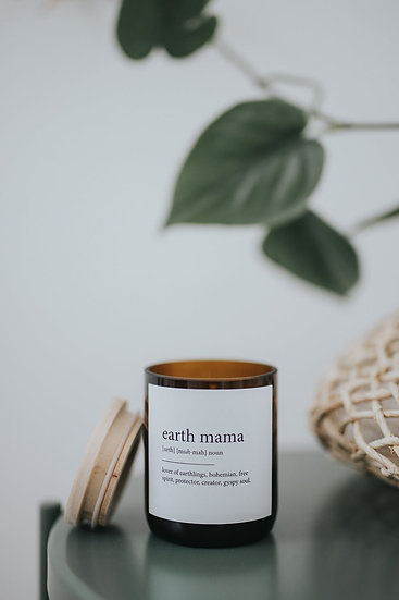 DICTIONARY SOY CANDLE - EARTH MAMA