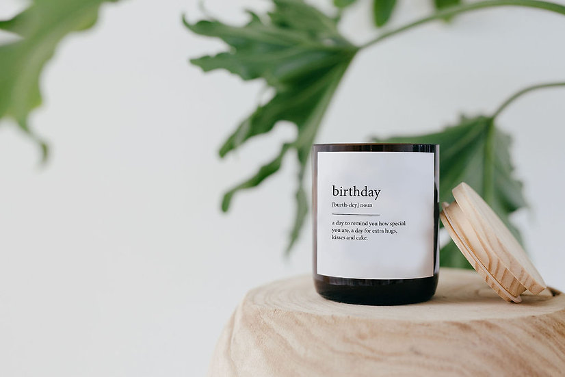 DICTIONARY SOY CANDLE - BIRTHDAY