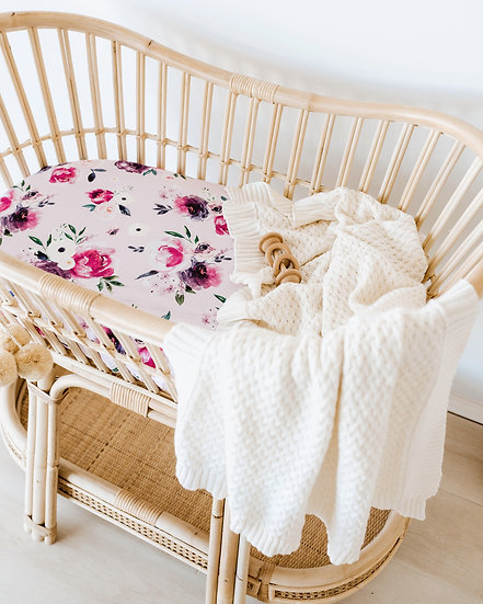 FLORAL KISS BASSINET / CHANGE PAD COVER