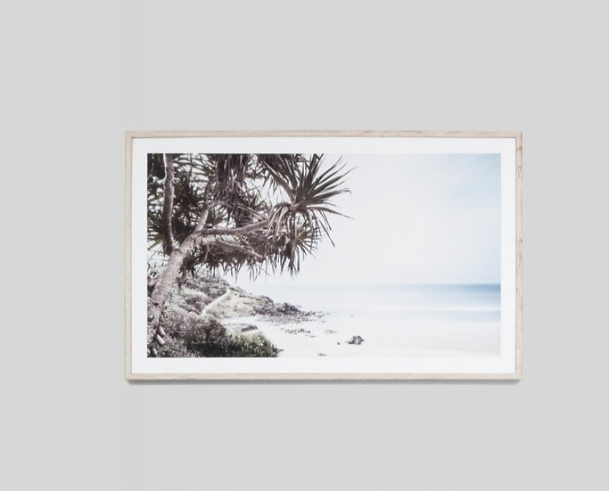ALONG THE COAST GLASS FRAMED PRINT