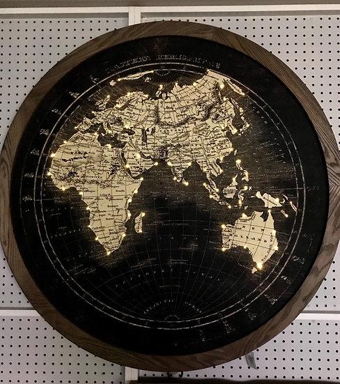 Light Up World Map Round