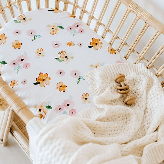 POPPY FIELDS BASSINET / CHANGE PAD COVER