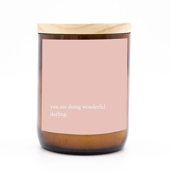 Heartfelt candle - doing wonderful darling