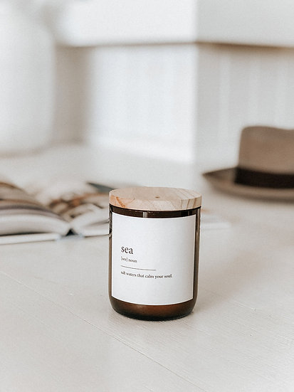DICTIONARY SOY CANDLE - SEA