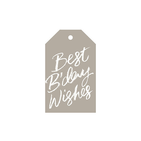 BEST B'DAY WISHES GIFT TAG