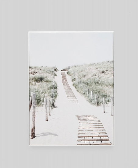 BEACH PATH FRAMED CANVAS
