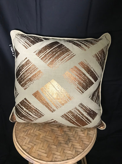 CUSHION BEIGE AND COPPER