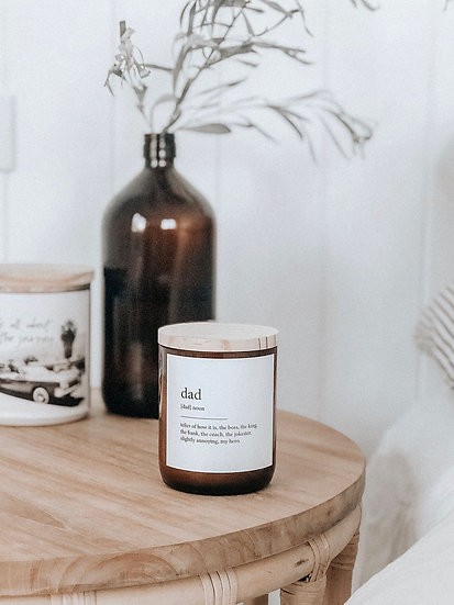 DICTIONARY SOY CANDLE - DAD