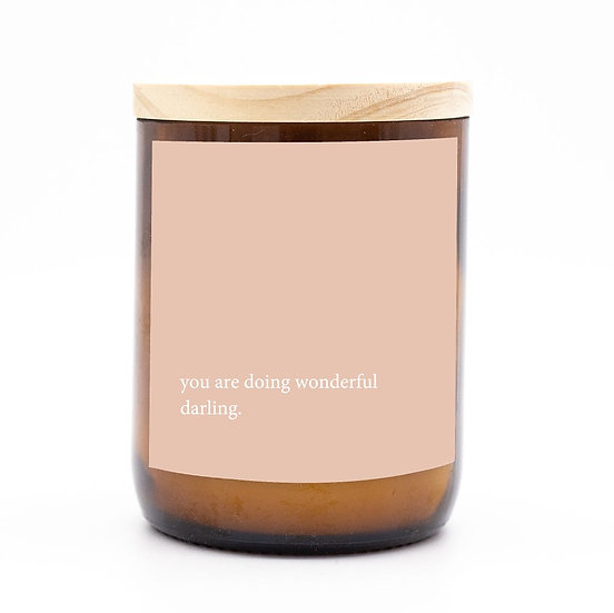 Heartfelt candle - you are doing wonderful