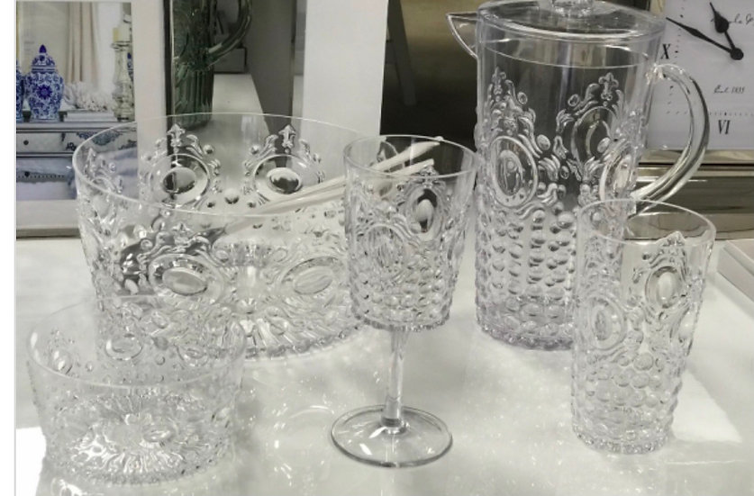 Acrylic Gemstone Wine Clear