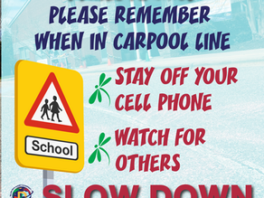 Carpool Safety Announcement - A message from the Principal