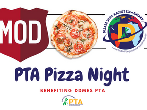 IT'S Wednesday March 10, Why Not Make it a Pizza Night for DDMES PTA