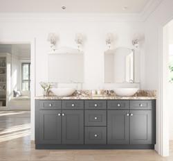 Grey shaker custom vanity