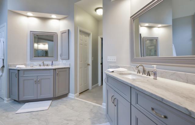 Grey custom vanity
