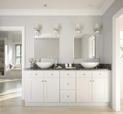 White shaker custom vanity