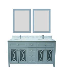 """Garden blue 60"""" vanity"""