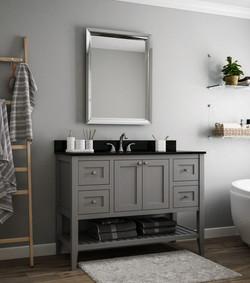 Free-standing grey vanity