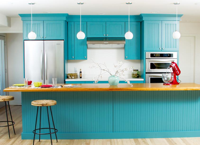 Diana Weisner blue kitchen