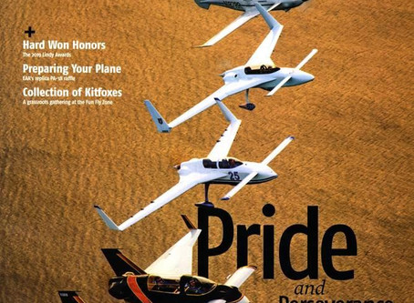 The First RAFE Canard Base, Sport Aviation Cover Shot and Kanab!