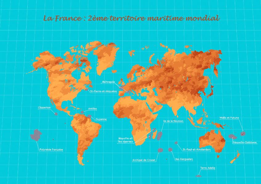 Carte des territoires maritimes français