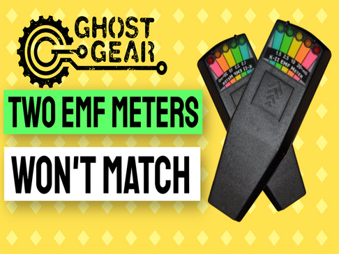 Why the readings on two different EMF meters won't match.