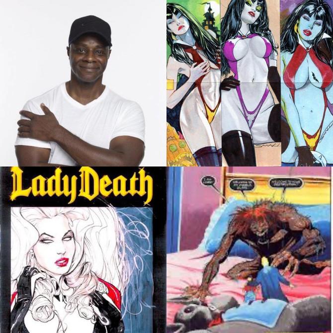 Louis Small Jr., Vampirella  and his  Dark comic journey