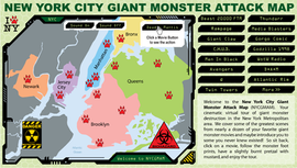 NYC Giant Monster Attack Map