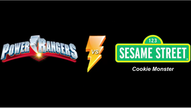 Power Rangers vs Cookie Monster