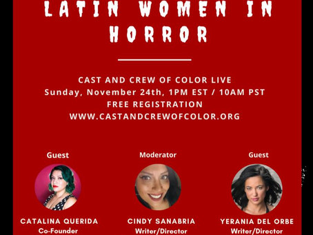 A panel with Latin Women In Horror