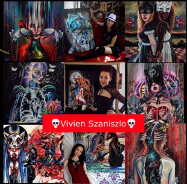 Colorful chaos with Dark surreal artist: Vivien Szaniszlo