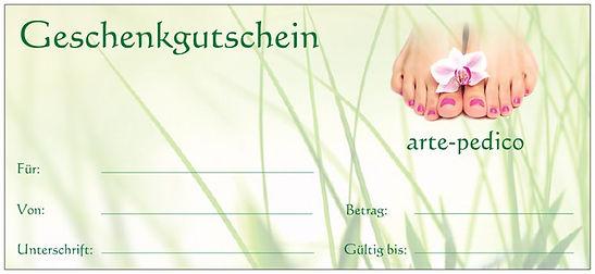 Geschenkgutschein von arte-pedico: Für eine Bestellung hier klicken!